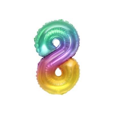 숫자은박풍선 소 레인보우 8