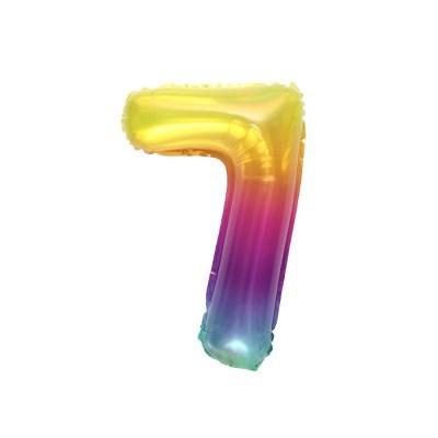 숫자은박풍선 소 레인보우 7