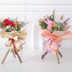 스윗카네이션스탠드꽃다발 32cmP 조화 꽃 선물 FMBBFT