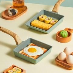 인덕션 네모후라이팬 계란 사각후라이팬 에그팬