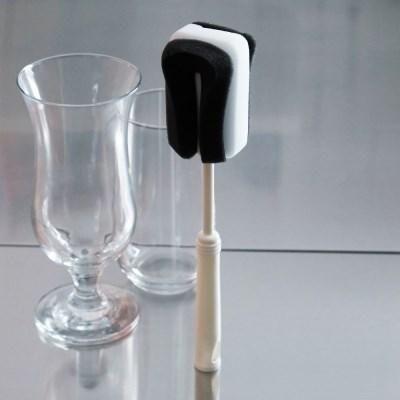블랙 앤 화이트 스펀지 컵 세척솔 텀블러 보온병 젖병 브러쉬