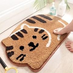 고양이 발매트 귀여운 현관 세탁실 발매트 다용도 부엌아이방