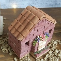 미니어처 지붕 재료 기와 벽돌집 만들기 DIY 키트