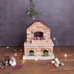 DIY 미니 벽돌집 만들기 벽돌 쌓기 미니어처 하우스 재료