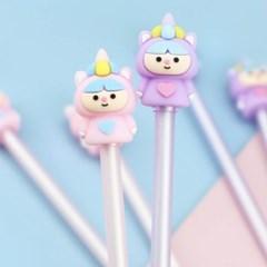 [맙소사잡화점] 하트 유니콘 요정 미니 피규어 젤 펜