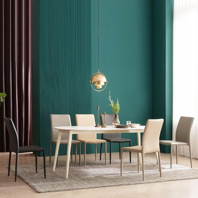 우유니 U89 세라믹 라운드 6인 식탁세트(의자)