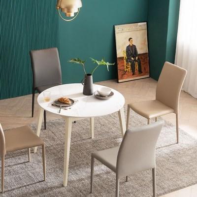 우유니 U89 세라믹 원형 4인 식탁세트(의자)