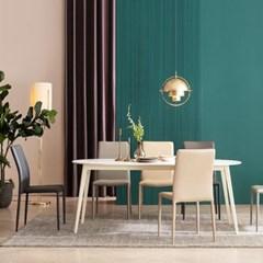 우유니 세라믹 라운드 6인 식탁 테이블