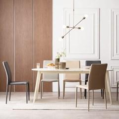 우유니 대리석 라운드 6인 식탁 테이블