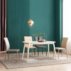 우유니 세라믹 라운드 4인 식탁 테이블