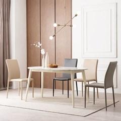 우유니 대리석 라운드 4인 식탁 테이블
