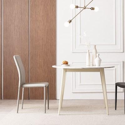 우유니 대리석 원형 식탁 테이블
