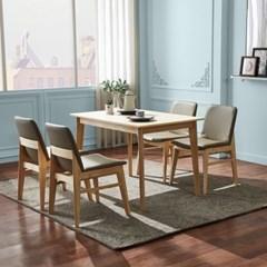 텐스페이스 뉴하임 4인용 원목식탁 의자세트 HE31R