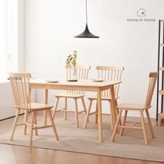 돌체 원목 식탁 1300 테이블 의자 세트_R105