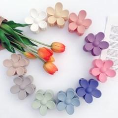 [BEST][1+1][10color] 블루밍 무광 파스텔 색감 플라워 꽃 집게핀