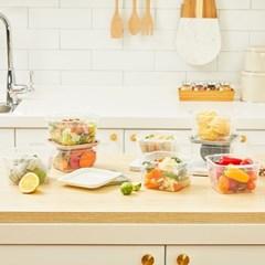 씨밀렉스 점보쿡미니 750ML 8개SET 냉동밥용기/전자레인지용기