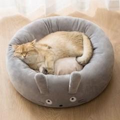 고양이 강아지 쿠션 숨숨 집 침대 쿠션 하우스
