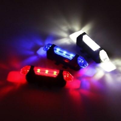 1Plus1 폴리스 순찰 컬러 LED 자전거 후미등 USB 충전
