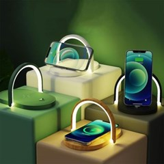 LED 무선 핸드폰 충전기 무드등 휴대폰 거치대 15W