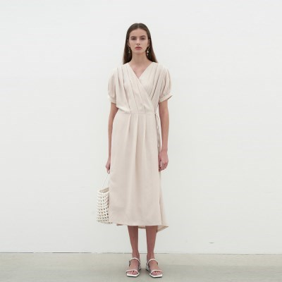 BREEZE WRAP DRESS_BEIGE