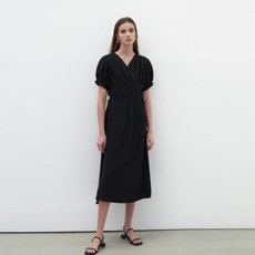 BREEZE WRAP DRESS_BLACK