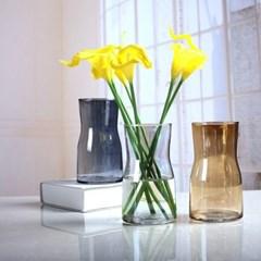 인테리어 유리 투명 글라스 꽃 소품 꽃병