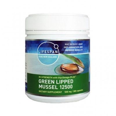 라이프스팬 초록입홍합 분말 12500mg 300 식물성 캡슐