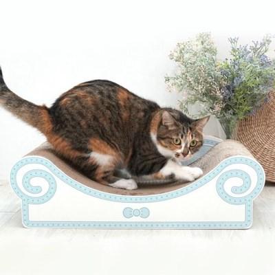 패리스캣 소파 스크래쳐 블루1개 고양이힐링