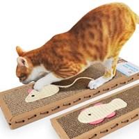 고양이 3D 평판형 스크래처 1+1