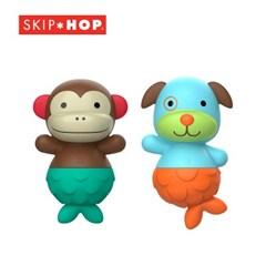[스킵합] 유아 물놀이 장난감 인형 맞추기 원숭이/강아지 세트