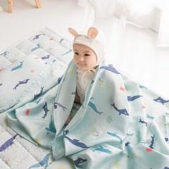 인견 아기 쿨매트 - 돌핀