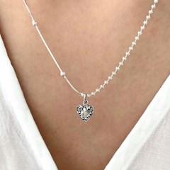 [Silver925] Antique heart necklace_(1543652)
