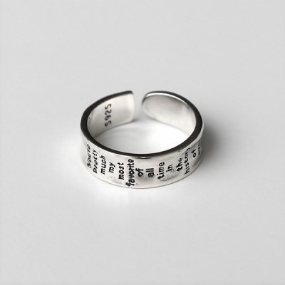 [Silver925] Lettering round ring_(1545224)