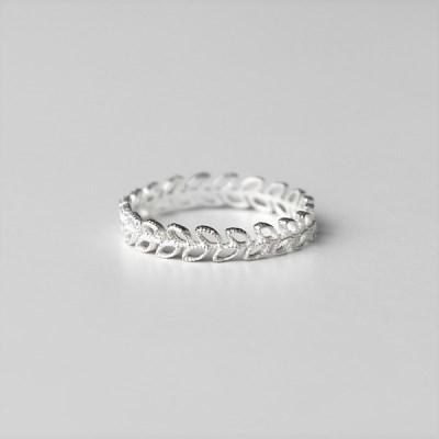 [Silver925] Matt leaf ring_(1545223)