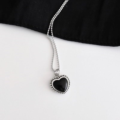 [Silver925] Casual heart necklace_(1546067)