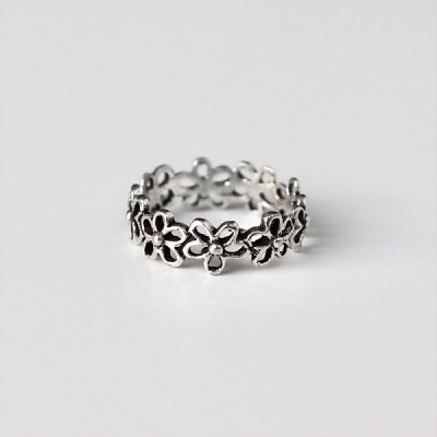 [Silver925] Alice flower knuckle ring_(1546069)