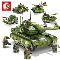 셈보블럭 호환 밀리터리 99A 전차탱크 4종합체 초등학생 어린이 장난
