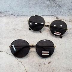 동그란 기본 블랙 데일리 도수없는 가벼운 선글라스