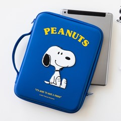 [Peanuts] 스누피 디지털 파우치 11인치_네이비