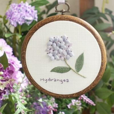 블랑주니 프랑스자수 클래스 - 보라수국꽃 (꽃자수길 시리즈)