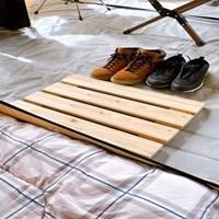 우드나인 원목 캠핑용 텐트 접이식 발판