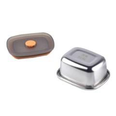 온나 스텐 반찬통 보관용기 (소형)