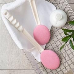 쓱싹 때타월 목욕솔 본체+타월 1P 핑크 목욕브러시