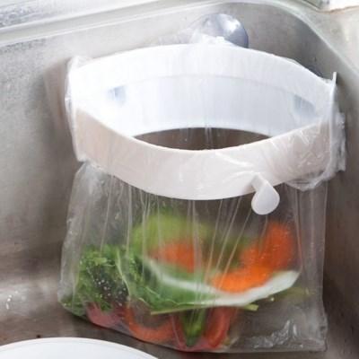 [이놀] 싱크대 클립형 음식물 쓰레기통 밀폐 홀더