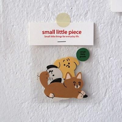 Three puppies sticker