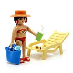 플레이모빌 일광욕 여인과 의자(70300)