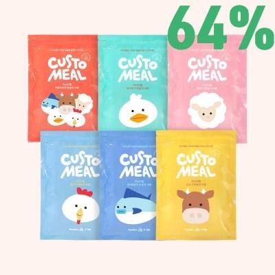 브이랩 커스터밀 반습식 고급사료 맞춤영양사료 300g x 8봉 (6종 1택