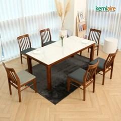 브레스트 6인 통세라믹 원목식탁SET(의자형) KHD-956S