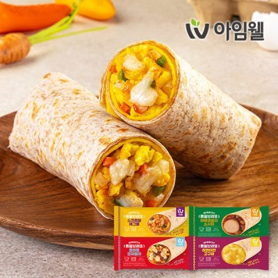 [아임웰] 닭가슴살 통밀브리또 120g 4종 1팩 골라담기