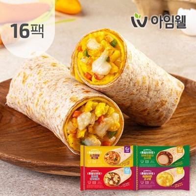 [아임웰] 닭가슴살 통밀브리또 120g 4종 16팩